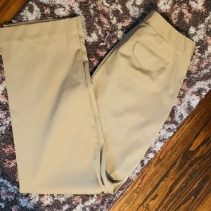 Talbots stretch khaki dress pants